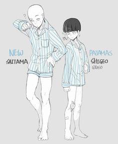 Saitama (One Punch Man) and Shigeo (Mob Psycho 100)