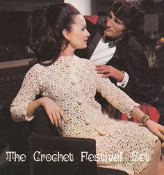 Crochet jacket pattern suit top and skirt vintage crochet