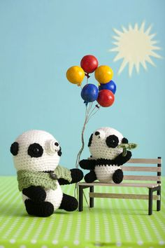 free crochet instructions for Pandas