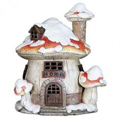 The Easiest Winter Vegetables To Grow Fairy Houses For Sale, Fairy Tree Houses, Fairy Village, Fairy Garden Houses, Popsicle Stick Houses, Snow Fairy, Mushroom House, Whimsical Christmas, Fairy Doors