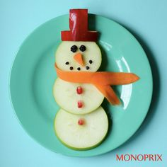 Elf on the shelf build a snowman snack for the kids while they're down for naps!