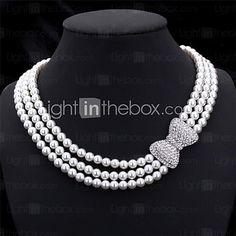 U7® Luxury Collar Necklaces Jewellery Austrian Rhinestone Choker Necklace - USD $16.99
