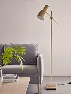Locating the perfect lamp for your home can be difficult because there is such a variety of lamps to choose from. Discover the perfect living room lamp, bed room lamp, table lamp or any other type for your particular space. Tall Floor Lamps, Gold Floor Lamp, White Floor Lamp, Tall Lamps, Black Floor, Contemporary Floor Lamps, Modern Floor Lamps, Modern Lighting, Task Lighting