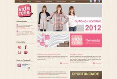 Site portal da marca de roupas femininas Vida Rosa.