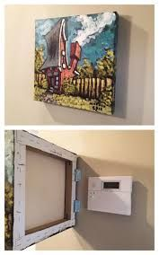 20 unique ways to hide clutter and valuables: DIY - Home Decor Ideas Furniture Makeover, Diy Furniture, Farmhouse Furniture, Furniture Projects, Painted Furniture, Furniture Design, Hidden Storage, Hidden Tv, Wall Storage