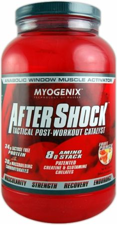 Myogenix:  AfterShock Recovery  Targets Muscle Growth!*  Advanced Anabolic & Anti-Catabolic Strength And Recovery Formula!*