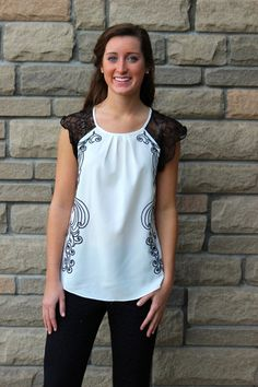 LOVE this top! Perfect for day or night!