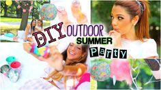 DIY Outdoor Retro Summer Party! Treats, Decor, Outfits, Recipes ++ more ♡