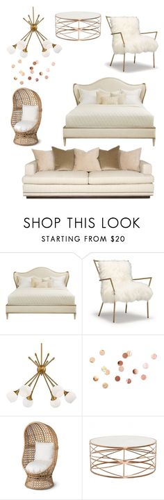 """""""Gold"""" by hannahp327 ❤ liked on Polyvore featuring interior, interiors, interior design, home, home decor, interior decorating, George Kovacs by Minka, Umbra and Improvements"""