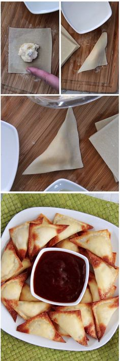 Baked Pineapple Cream Cheese Wontons Recipe