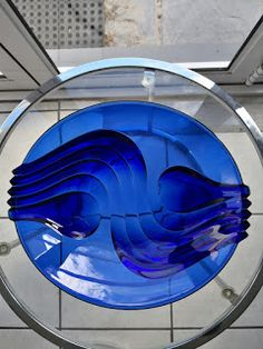 A beautiful cobalt blue moulded plate with wave detail on underside. Blue Plates, Cape Town, Cobalt Blue, Skyscraper, Retro, Beautiful, Blue Dishes, Skyscrapers, Retro Illustration
