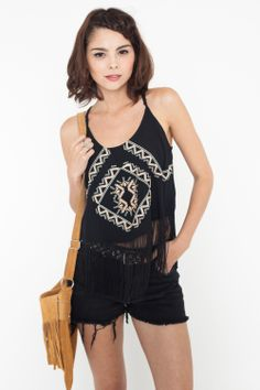 Top Gipsy Chic negro by FP - Tops & Camisetas - Clothes - SHOP