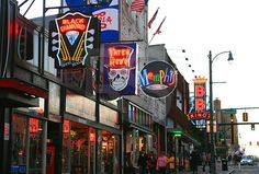 Beale Street famous for its blues music