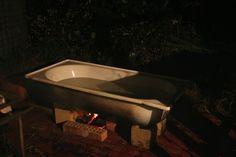 Wood Fired Outdoor Bathtub Prototype