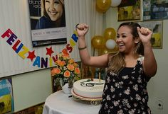 Comemoração do aniversário da Bruna