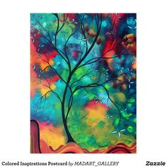 Landscape Painting 'Colored Inspiration' by Megan Duncanson - Abstract Tree Art Whimsical Artwork on Metal or Acrylic Painting Frames, Painting Prints, Canvas Prints, Art Prints, Matte Painting, Silk Painting, Inspirational Canvas Art, Inspiring Art, Inspirational Quotes