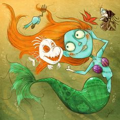 Nightmare Before Christmas and The Little Mermaid mashup