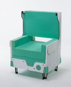 Primera silla sacada de una lavadora