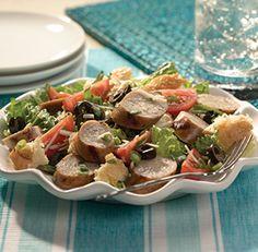 ... roasted garlic chicken sausage more sausage panzanella sausage salad