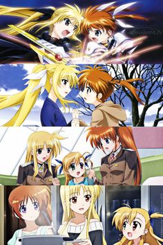 Nanoha y fate Secret Garden Coloring Book, Familia Anime, Disney And More, Pretty Cure, Kawaii Anime Girl, Light Novel, Disney Cartoons, Magical Girl, Shoujo