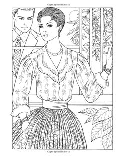 Fabulous Fashions Of The Creative Haven Coloring Book By Ming Ju Sun Welcome To Dover Publications