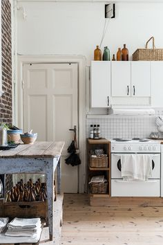 Swedish Farmhouse Style Kitchen workbench