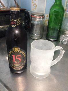 Baden Baden - Brasil: Edição especial de 15 anos de aniversário de uma cerveja brasileira, mais conhecida por sua Zarour. A versão Heller Bock em questão apresenta teor alcoólico maior (6,7 %) característica evidenciada no sabor de forma acentuada. #badenbaden #beersoftheworld #cervejasdomundo