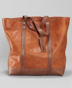 Levi's Crafted Leather Tote Bag - Tan