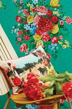Show details for Dutch Painters wallpaper Green