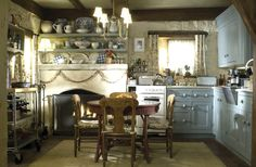 "English cottage kitchen in ""The Holiday"" movie.  I love this cozy look!"