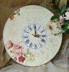 """Часы """"Как свежи были розы"""". Автор - """"Винтажный дворик"""" Амелина Лена (EAmeli)"""