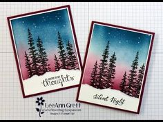 cardmaking video: Wonderland & Brayer Sky Technique Card ... another…