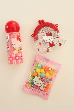 Sanrio Hello Kitty shampoo ,tiny  purse & candies bag  by lucychan80, via Flickr