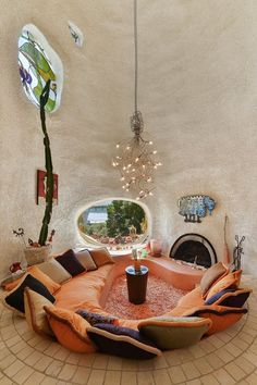 Conversation pit. Click a photo for a slideshow.