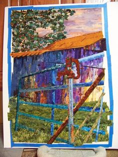 landscape quilts: wrong colors, but right idea.  This might be how to construct a quilt for Grandpa Palmer's old barn