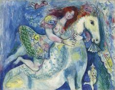 Marc Chagall (1887-1985) - 1929, L'écuyère, or Danseuse au cirque (56.2 x 71.4 cm.) Sold 2012: $3,057,933