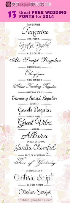 13 Elegant but Free Wedding Fonts