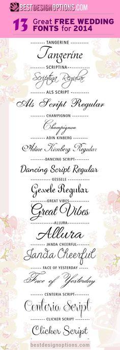 13 Elegant but Free Wedding Fonts