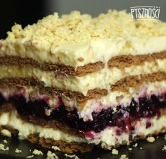 Polish Recipes, New Recipes, Croatian Recipes, Keto Snacks, Cakes And More, No Bake Desserts, Cake Cookies, Tiramisu, Oreo