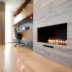 Erie Avenue Residence Cabinetry and Fireplace RDA in cinci