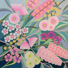 Gouache Painting, Painting & Drawing, Illustrations, Illustration Art, Australian Native Flowers, Australian Art, Folk Art Flowers, Visual Metaphor, Apple Watch Wallpaper