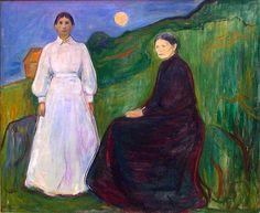 Edvard Munch. Mor og datter @ DigitaltMuseum.no
