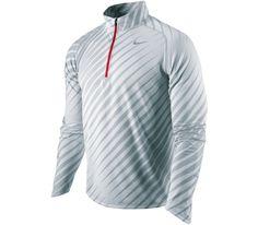 Nike - Running shirt Element Jacq 1/2 Zip grey - SP12 running apparel Running shirt long sleeve for men from Nike for cheap