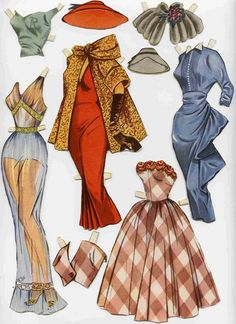 Swedish Rita Hayworth paper doll 2 / medlem.spray.se
