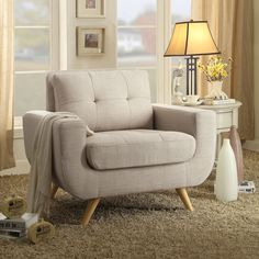 Eleanor Tufted Arm Chair & Reviews | Joss & Main