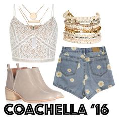 """""""coachella"""" by truelove6557 ❤ liked on Polyvore featuring Jeffrey Campbell, New Look, Jules Smith and Panacea"""
