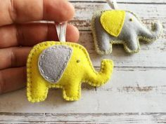 Wool Felt Elephant keychain or ornament, Good luck gift, Yellow Elephant keychain, Felt Elephant charm, fortune gift / READY to SHIP Ornaments Image, Baby Ornaments, Handmade Ornaments, Felt Phone Cases, Felt Christmas, Christmas Ornaments, Elephant Keychain, Felt Keychain, Good Luck Gifts