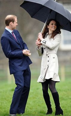 The Prince & Princess playing in the rain :)