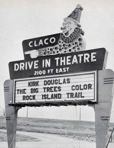 Claco Drive In Theater.How long has it been since you've been to the drive-in?