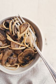 Mushroom Stroganoff (Vegan and can be GF with GF flour and noodles) From The China Study All Star Collection. Super Yummy for the WHOLE Family!